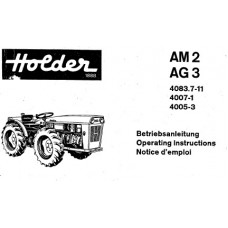 Holder AM2 - AG3 Cultitrac Operators Manual