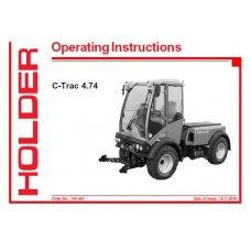 Holder C-Trac 4.74 Operators Manual