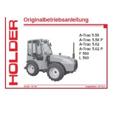 Holder A-Trac 5.58 - A-Trac 5.58P - A-Trac 5.62 - A-Trac 5.62P - F560 - L560 Operators Manual