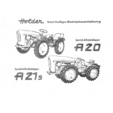 Holder A 20 - A 21 S Cultitrac Operators Manual