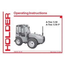Holder A-Trac 5.58 - A-Trac 5.58P Operators Manual