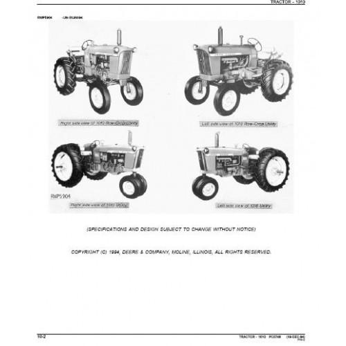 john deere 1010 parts manual rh tractorboek com 1963 John Deere 1010 1963 John Deere 1010