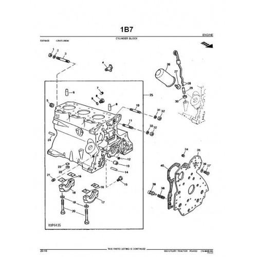 john deere 830 parts manual