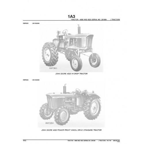 John Deere Parts Manual 4020