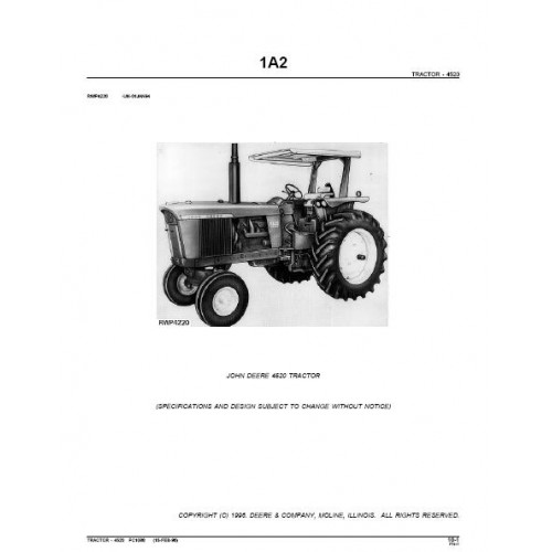 John Deere 4520 Parts ManualTractorboek