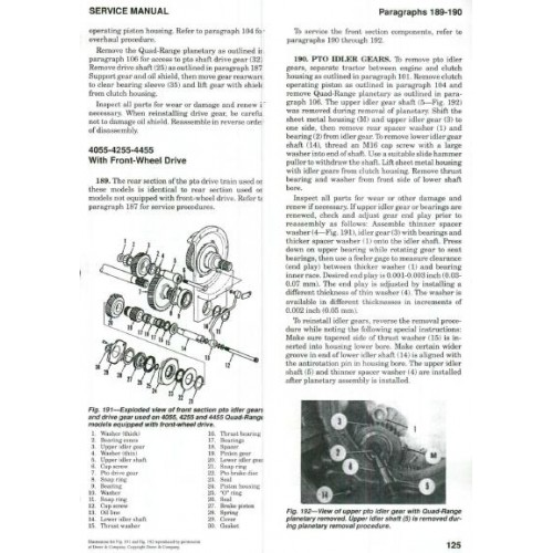 john deere 4055 4255 4455 4555 4755 4955 workshop manual rh tractorboek com john deere 4055 service manual John Deere 4020
