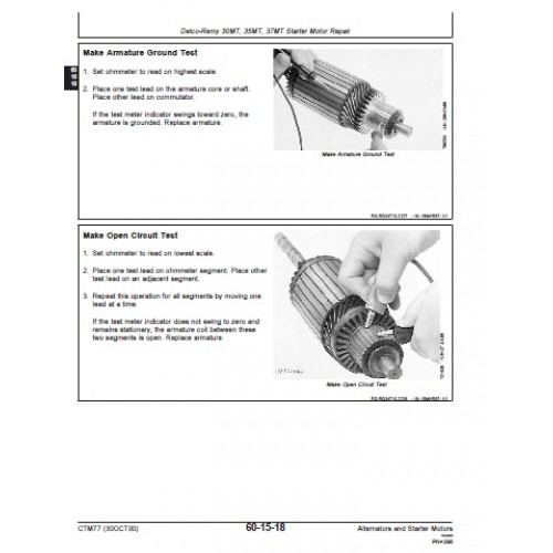 John Deere Alternator - Starter Motor Workshop Manual on voltage regulator wiring diagram, renault engine diagram, to record from performance reproduction diagram, 3 wire alternator diagram,