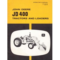 John Deere JD 400 Operating Manual
