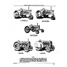 John Deere Model B - BN - BNH - BW - BWH - BR - BO Parts Manual
