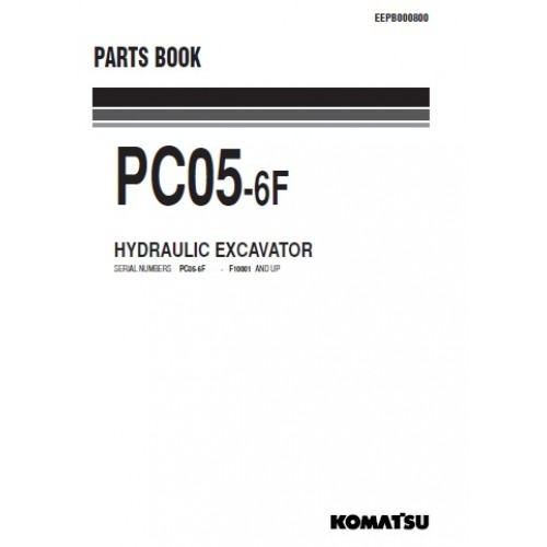 Komatsu PC05-6F Parts Manual