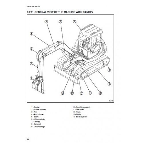 Komatsu excavator operators Manual