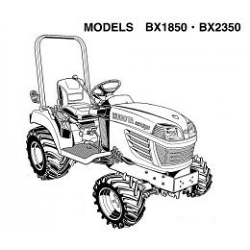 Kubota BX1850 BX2350 Operators Manual