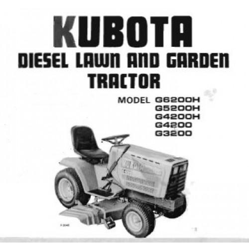 kubota g3200 g4200 g4200h g5200h g6200h operators manual rh tractorboek com Massey Ferguson kubota g5200 service manual pdf