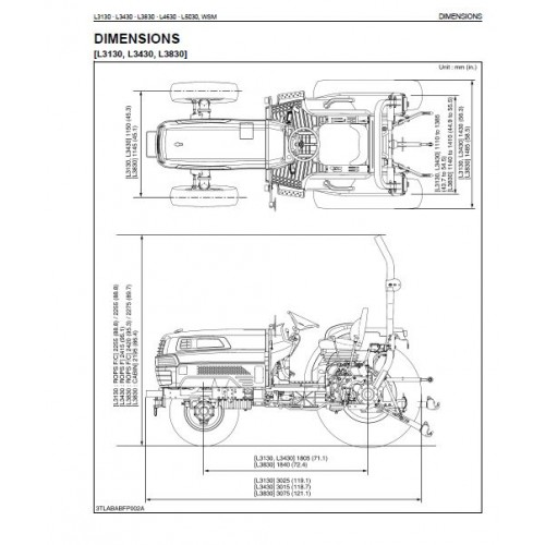 kubota l3130 l3430 l3830 l4630 l5030 workshop manual rh tractorboek com Kubota L4630 Kubota L3830 GST 4WD