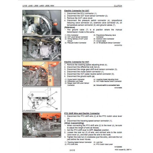 Kubota L3130 L3430 L3830 L4630 L5030 Workshop Manual