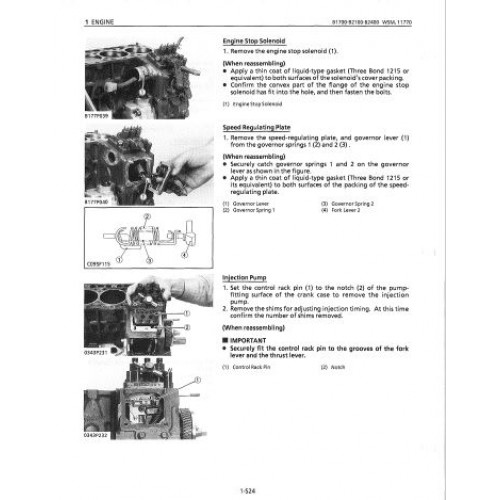 kubota b1700 b2100 b2400 workshop manual rh tractorboek com kubota b2400 repair manual kubota b2100 service manual