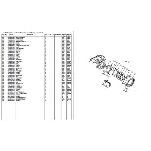 Kubota m4050 Parts Manual on