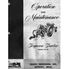 Massey Ferguson TO20 Operating Manual