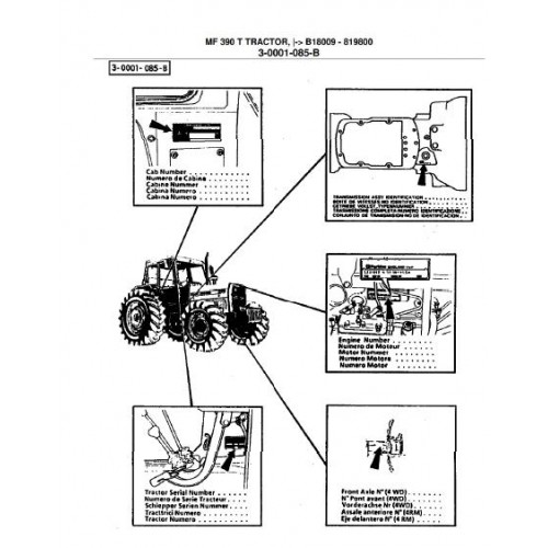 massey ferguson mf 390t parts manual