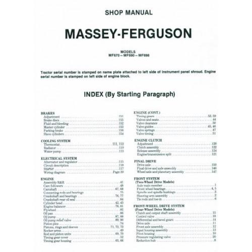 Massey Ferguson Mf 670 - Mf 690