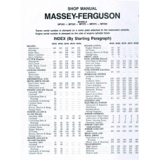 Massey Ferguson MF 255 - 265 - 270 - 275 - 290 Workshop Manual