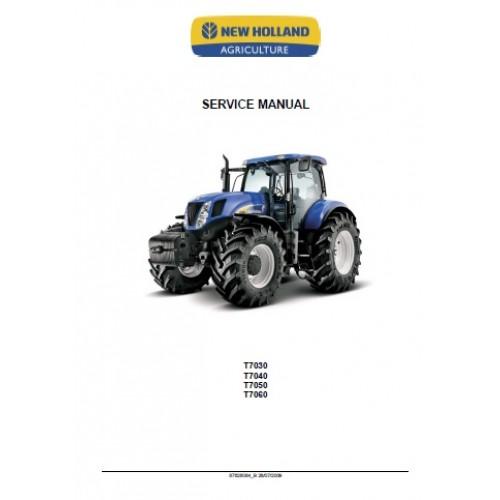 new holland t7030 t7040 t7050 t7060 workshop manual rh tractorboek com New Holland Combines New Holland T7.315