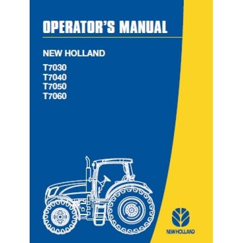 new holland t7030 t7040 t7050 t7060 t7000 series operators rh tractorboek com New Holland Square Baler New Holland T6050