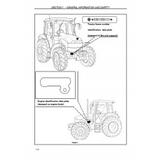 New Holland TD60D - TD70D - TD80D - TD90D - TD95D - TDD Series Operators Manual