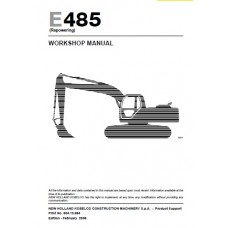 New Holland E485 Workshop Manual