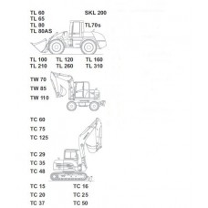 Terex TC15 - TC16 - TC20 - TC25 - TC37 - TC50 Workshop Manual